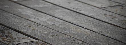Fundo molhado da madeira da plataforma Foto de Stock