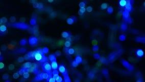 Fundo movente abstrato das luzes do bokeh filme