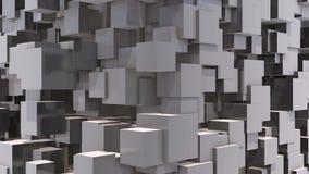 Fundo movente dos cubos video estoque
