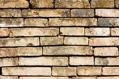 Fundo muito velho do close-up da parede de tijolo Fotos de Stock