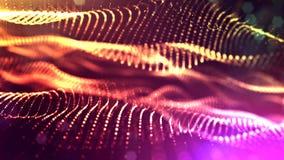 fundo multi-colorido 3d com partículas luminosas fantásticas Animação 3d dada laços com profundidade de campo, efeitos da luz filme