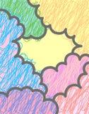 Fundo multicolor das nuvens do vetor Foto de Stock