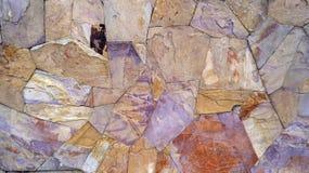 Fundo multicolorido da textura da parede de pedra Fotografia de Stock