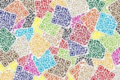 Fundo multicolorido do QR Code Código rápido da resposta para o supermercado, o comércio eletrônico, a loja etc. ilustração royalty free