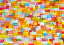 Fundo multicolorido dos retângulos arredondados Fotografia de Stock Royalty Free