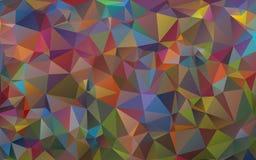 Fundo multicolorido dos triângulos Cores brilhantes, fundo abstrato festivo Imagem de Stock Royalty Free