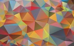Fundo multicolorido dos triângulos Cores brilhantes, fundo abstrato festivo Fotos de Stock Royalty Free
