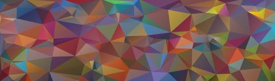 Fundo multicolorido dos triângulos, encabeçamento da bandeira para a Web Imagens de Stock