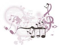 Fundo musical ilustração stock