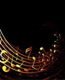 Fundo musical Fotografia de Stock Royalty Free