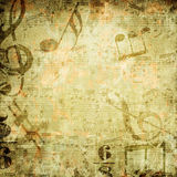Fundo musical ilustração royalty free