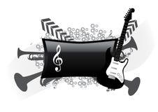 Fundo musical abstrato Foto de Stock