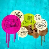 Fundo musical abstrato ilustração royalty free