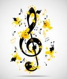 Fundo musical abstrato com notas Fotos de Stock Royalty Free