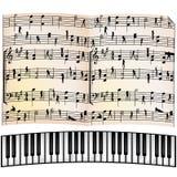 Fundo musical abstrato, objetos Imagens de Stock Royalty Free