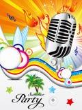 Fundo musical colorido abstrato Imagens de Stock