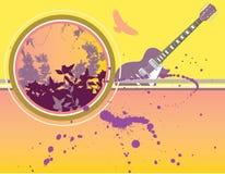 Fundo musical e floral ilustração do vetor