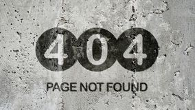 Fundo não encontrado de 404 páginas Imagens de Stock Royalty Free
