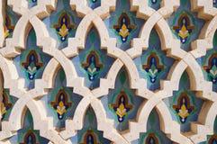 Fundo na mesquita de Hassan II, Casablanca Fotos de Stock Royalty Free