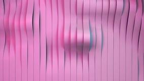 Fundo na moda cor-de-rosa das listras, ilustração 3D moderna Fotos de Stock Royalty Free