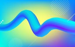 Fundo na moda da forma 3D do inclinação de néon da cor Ilustração Stock
