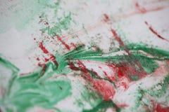 Fundo na pintura vermelha e verde Fotos de Stock Royalty Free