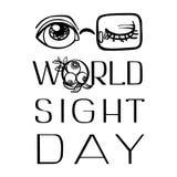 Fundo nacional do conceito do dia da vista, estilo simples ilustração royalty free