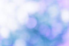 Fundo natural azul abstrato do borrão do bokeh imagem de stock