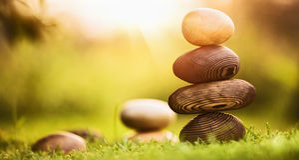 Fundo natural com pedras Fotografia de Stock