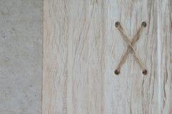 Fundo natural de madeira da cor e da corda Foto de Stock