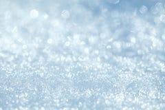 Fundo natural do inverno com neve foto de stock