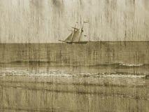 Fundo/navio/oceano de Grunge Fotografia de Stock