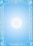 Fundo nevado azul Imagens de Stock
