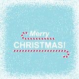 Fundo nevado com Feliz Natal ilustração do vetor