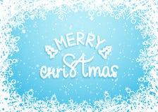 Fundo nevado do Feliz Natal com flocos de neve Vetor eps10 Imagem de Stock Royalty Free