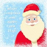 Fundo nevado do Natal com Santa Claus ilustração royalty free