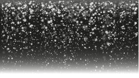 Fundo nevado frio da noite dos invernos ilustração do vetor