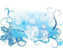 Fundo nevando do inverno Imagens de Stock