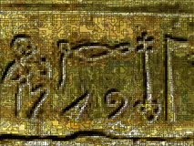 Fundo no estilo antigo de Egipto, com jeroglífico Fotos de Stock