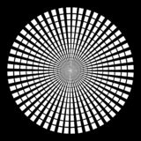 Fundo no formulário dos raios brancos sob a forma de um círculo em um fundo preto ilustração do vetor