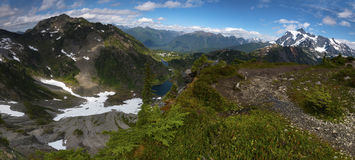 Fundo noroeste pacífico de Washington State Hiking Climbing Landscape Waterscape Imagem de Stock