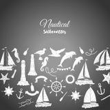 Fundo náutico com navios Fotografia de Stock
