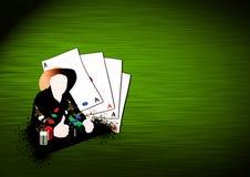 Fundo ocidental do póquer ilustração stock