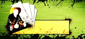 Fundo ocidental do póquer ilustração do vetor