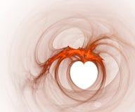 Fundo oco do coração Foto de Stock Royalty Free