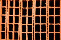 Fundo oco do tijolo da argila Imagem de Stock