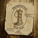 Fundo Oktoberfest da cerveja, Foto de Stock