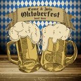 Fundo Oktoberfest da cerveja, Imagens de Stock Royalty Free