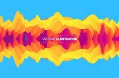 Fundo ondulado abstrato com reflexão Inclinações na moda com simetria Efeito dinâmico ilustração royalty free