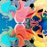 Fundo ondulado abstrato dos elementos Fotografia de Stock